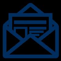 newsletter blue